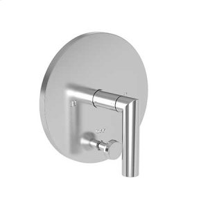 Satin Brass - PVD Balanced Pressure Tub & Shower Diverter Plate with Handle. Less Showerhead, arm and flange.