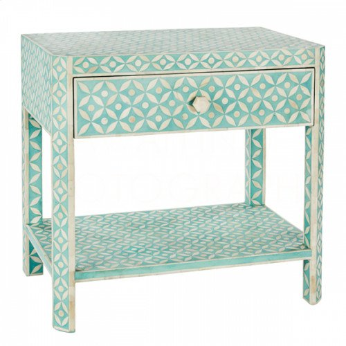 Bay Blue Ecliptic Side Table