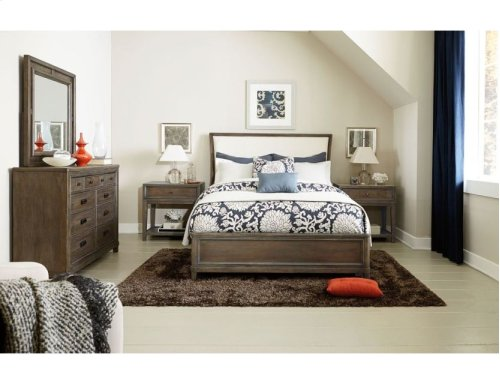 California King Uph Sleigh Bed Complete