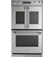 "Monogram 30"" Professional French-Door Electronic Convection Double Wall Oven"