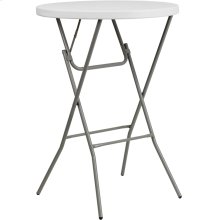 32'' Round Granite White Plastic Bar Height Folding Table