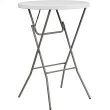 32'' Round Granite White Plastic Bar Height Folding Table