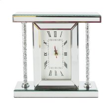 Mirrored & Glitter Table Clock, 7.75""