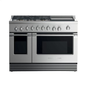 "Fisher & PaykelGas Range, 48"", 5 Burners with Griddle"