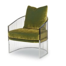 Ruffalo Metal Barrel Chair