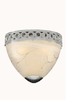 4720 Italia Collection Wall Sconce Chrome Finish (Swarovski Elements Crystal Clear)