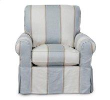 Sunset Trading Horizon Slipcovered Swivel/Rocker Chair - Color: 479541 - Sunset Trading