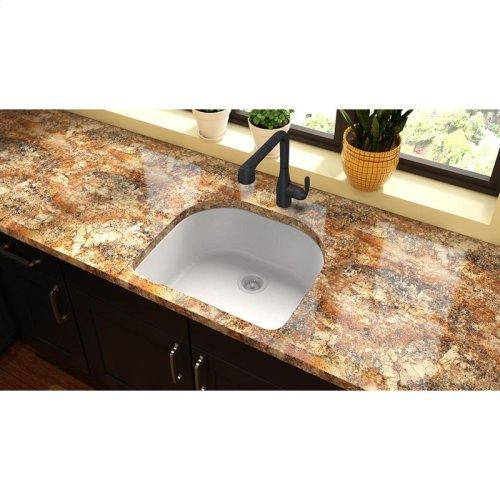 "Elkay Quartz Classic 25"" x 22"" x 8-1/2"", Single Bowl Undermount Sink, White"