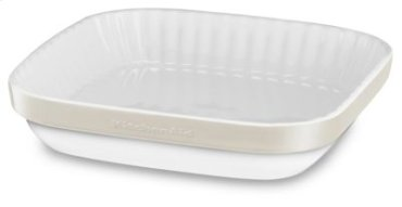 "Ceramic 9"" Au Gratin Baking Dish - Almond Cream"