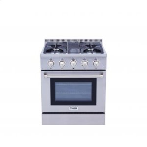 ThorProfessional 30 Inch Dual Fuel Range In Stainless Steel