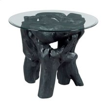 Hidden Treasures Charred Root Ball End Table