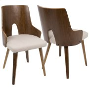 Ariana Dining Chair - Walnut / Beige Product Image