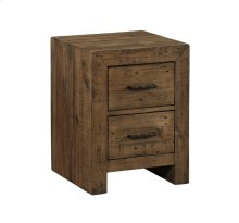 Emerald Home Pine Valley Chairside Table-burnished Pine Finish T744-03