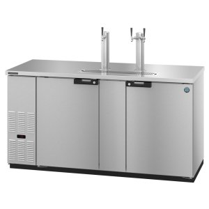 HoshizakiDD69-S, Refrigerator, Two Section, Stainless Steel Back Bar Direct Draw, Solid Doors