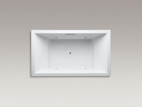 """Biscuit 72"""" X 42"""" Drop-in Vibracoustic Bath With Chromatherapy and Center Drain"""