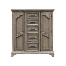 Bristol 9 Drawer Door Chest in Elm Brown