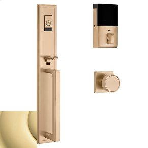 Non-Lacquered Brass Evolved Hollywood Hills Full Escutcheon Handleset