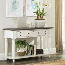 Juniper - Console Table - Chalk/charcoal Finish