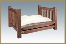 Homestead Rustic Pet Bed - Stained and Lacquered