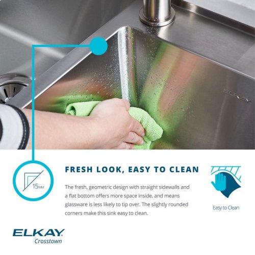 """Elkay Crosstown Stainless Steel 35-7/8"""" x 20-1/4"""" x 9"""", Single Bowl Farmhouse Sink"""