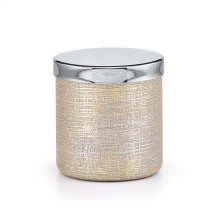 Woven Canister with Unplated Brass Accent Finish
