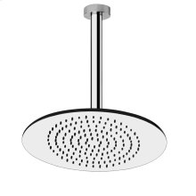 """Ceiling-mounted shower head 1/2"""" connections Projection from ceiling 10-1/8"""" Max flow rate 2"""