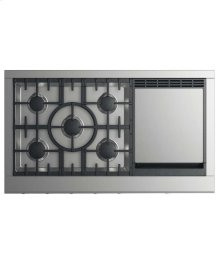 "48"" Professional Cooktop: 5 Burners With Griddle"