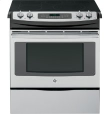 """GE® 30"""" Slide-In Front Control Electric Convection Range ***FLOOR MODEL CLOSEOUT PRICING***"""