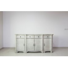 Hawthorne Estate White Wash Credenza