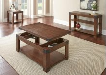 """Arusha Lift Top Cocktail Table w/Casters, 48""""x28""""x21"""