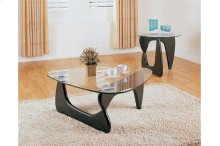 Round End Table with Glass Top