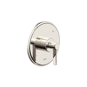 Polished Nickel Wallace (Series 15) Shower Trim Plate with Handle