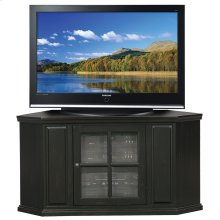 "46"" Black Rub Corner TV Stand #83285"
