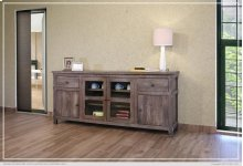 """80"""" TV Stand w/2 Drawers, 2 doors, 2 glass doors, 2 shelves"""