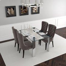 Frankfurt/Rizzo 5pc Dining Set, Grey