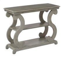 Ashland Console Table In Antique Grey Finish