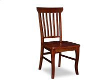 Venetian Dining Chairs Set of 2 with Wood Seat in Walnut