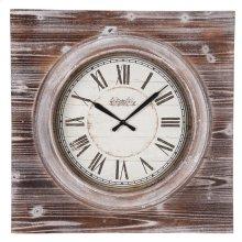 Washed Wood Wall Clock