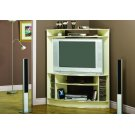 TV STAND - BEIGE / BRASS ACCENT CORNER UNIT Product Image