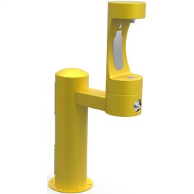 Elkay Outdoor EZH2O Bottle Filling Station Pedestal, Non-Filtered Non-Refrigerated Freeze Resistant Yellow