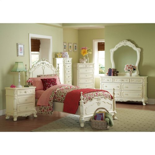 Queen Bed, White Color