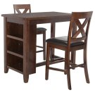 Everest 3 Piece Pub Set - Mahogany / Black Product Image