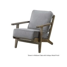 Slate Metro Chair with Antique Finish
