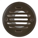 """4"""" Round Solid Nickel Bronze Plated Grid Shower Drain - Brushed Nickel Product Image"""