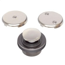 Brushed Nickel Toe Touch Bath Drain Conversion Kit