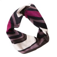 Purple & Brown Patterned Stretch Headband. Product Image