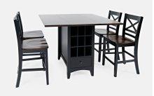 Asbury Park Counter Drop Leaf Table W/2 X Back Stools - Black/autumn