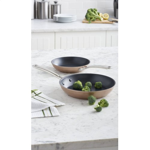 """Hard Anodized Non-Stick Twin Pack Skillet Set (8""""/10"""") - Toffee Delight"""