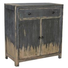 Bengal Manor Acacia Wood 1 Drawer 2 Door Cabinet with Weatherd Grey Finish