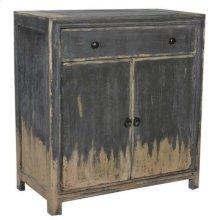 Bengal Manor Acacia Wood 1 Drawer 2 Door Cabinet with Weatherd Grey Finish